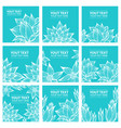 set of stylish colorful floral background vector image vector image