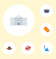 set of usa icons flat style symbols with vector image
