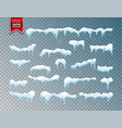 snow ice cap snowfall with snowflakes winter vector image vector image