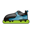 soccer shoes design vector image vector image