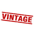 square grunge red vintage stamp vector image vector image