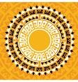 sun madala in maya style vector image vector image
