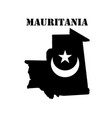 symbol of mauritania and map vector image vector image