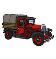 the vintage red truck vector image