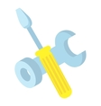 Tools icon isometric 3d style vector image