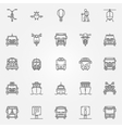 Transport linear icons vector image