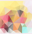 triangles polygonal print in summer colors vector image vector image