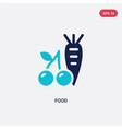 two color food icon from health concept isolated vector image vector image