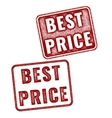 Two realistic Best Price stamps isolated vector image vector image