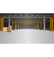 Warehouse Realistic Background vector image vector image