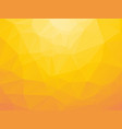 white and yellow triangular background vector image vector image