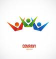 winner people logo vector image