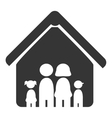 Family and home pictrogram design vector image