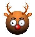 happy reindeer emoji vector image