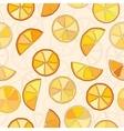 oranges seamless pattern vector image