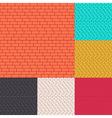 Set of brick walls seamless background vector image