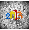 2013 year from a paper vector image