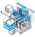 3d abstract isometric background layout of vector image vector image