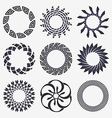 Abstract design elements set vector image vector image