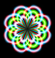 abstract rainbow ray in the shape of a flower vector image vector image