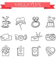 art of valentine with hand draw vector image vector image
