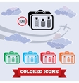 Baggage transportation airport icon Liquid in vector image vector image