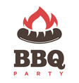 barbecue or grill sausage logo template vector image