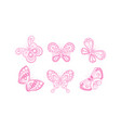 beautiful flying butterflies collection adorable vector image vector image