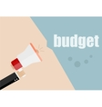 budget Megaphone Flat design business vector image vector image