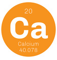 Calcium chemical element vector image vector image