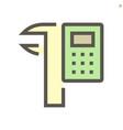 calculator and vernier caliper icon design for vector image