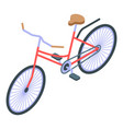 city bicycle icon isometric style vector image vector image