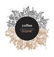 coffee design circle 4 vector image vector image
