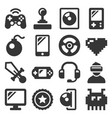 computer video game icons set on white background vector image
