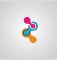 connect 3 molecule icon vector image