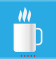 cup with hot drink icon different color vector image