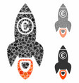 euro rocket launch composition icon rugged vector image vector image