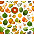 exotic fruits tropical seamless pattern vector image vector image