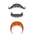 fake hand drawn mustaches collection of moustache vector image vector image