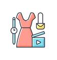 fashion video rgb color icon vector image