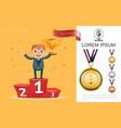 flat success and achievement concept vector image