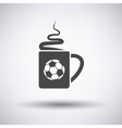 Football fans coffee cup with smoke icon vector image vector image