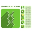 Genome Icon and Medical Longshadow Icon Set vector image vector image