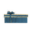 gift box with ribbon bow icon image vector image vector image
