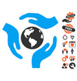 global care icon with lovely bonus vector image vector image