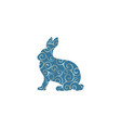 hare wild color silhouette animal vector image vector image