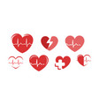 health logo heart pharmacy hospital symbol vector image