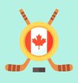 Hockey in Canada vector image