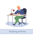home education knowledge concept young man vector image