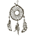 Indian Ethnic dream catcher with feathers vector image vector image